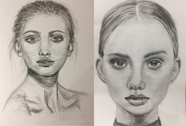 描き 方 自画像
