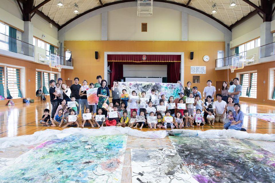 久高島キッズアート★日本画ワークショップを開催しました!