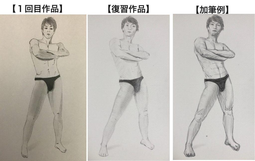 【ピリカアートスクール】全身のデッサン 添削アドバイス