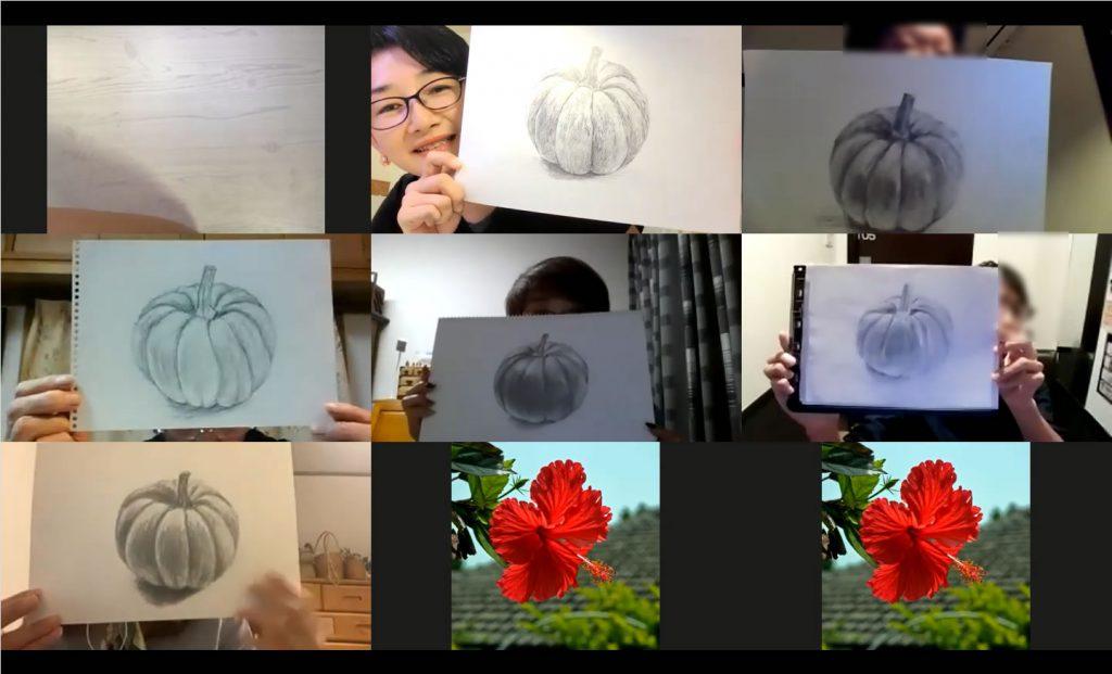 【ピリカアートスクール】オンライングループレッスンの様子
