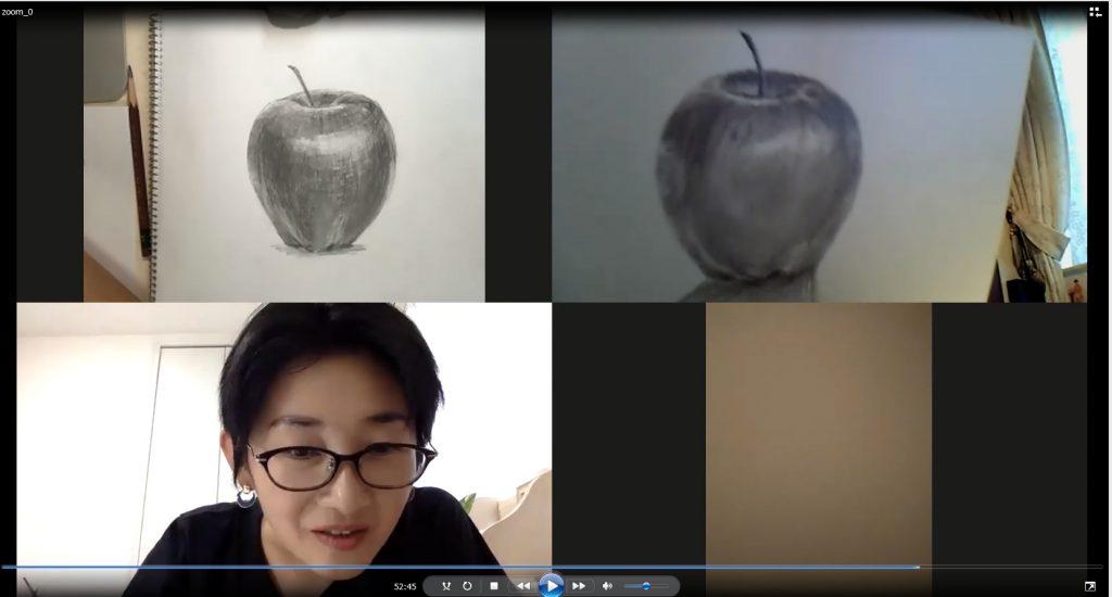【ピリカアートスクール】オンラインで一緒に絵を描こう!グループレッスンの様子