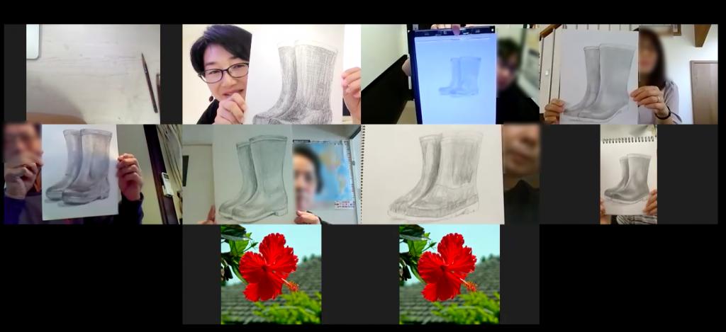 【ピリカアートスクール】第8回 松原美那子と一緒に描く<オンライングループデッサン会>を開催いたしました★
