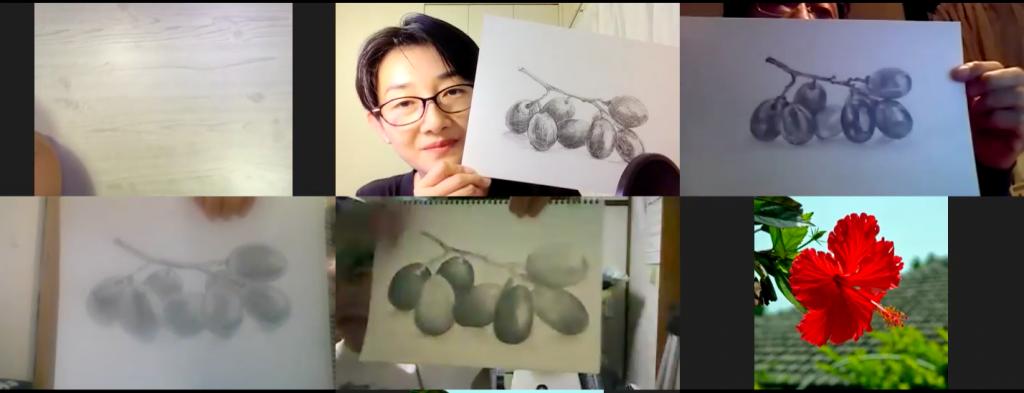 【ピリカアートスクール】第9回 受講生と一緒に絵を描く!オンライングループデッサン会を開催いたしました★