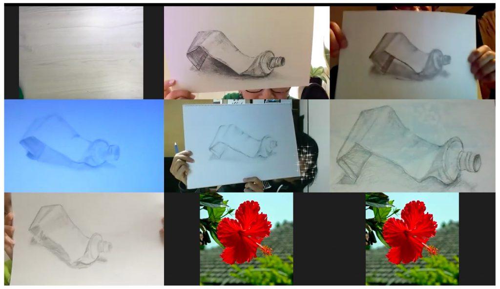 【ピリカアートスクール】第10回 受講生と一緒に絵を描く!オンライングループデッサン会を開催いたしました★
