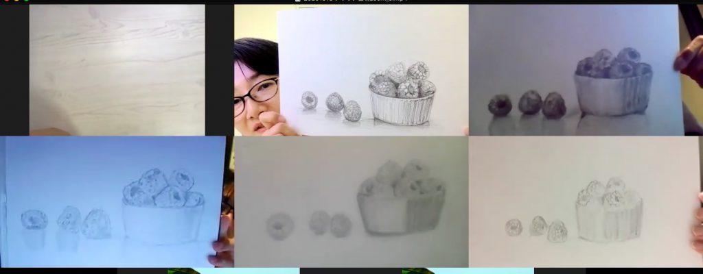 【ピリカアートスクール】第11回 受講生と一緒に絵を描く!オンライングループデッサン会を開催いたしました★