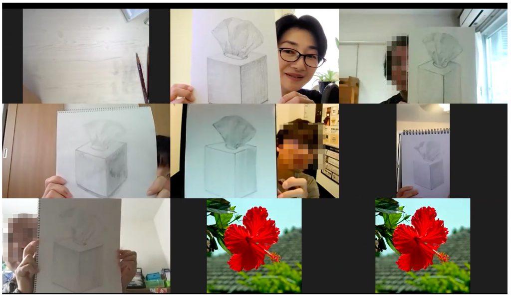 【ピリカアートスクール】第14回 松原美那子と一緒に描く!オンライングループデッサン会を開催いたしました★