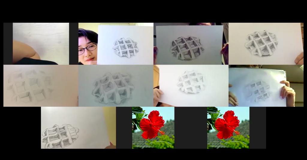 【ピリカアートスクール】延参加人数130名突破!第19回 松原美那子と一緒に描く!オンライングループデッサン会を開催いたしました★