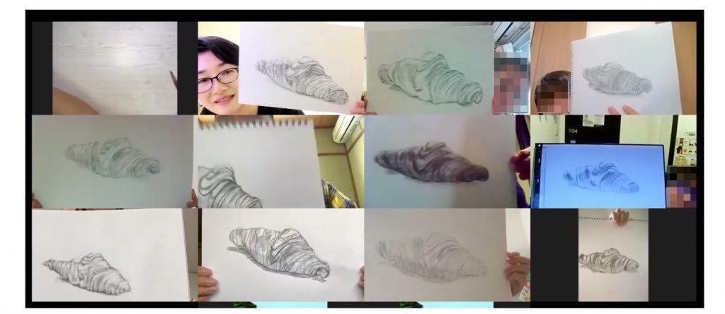 【ピリカアートスクール】延参加人数100名突破!第15回 松原美那子と一緒に描く!オンライングループデッサン会を開催いたしました★