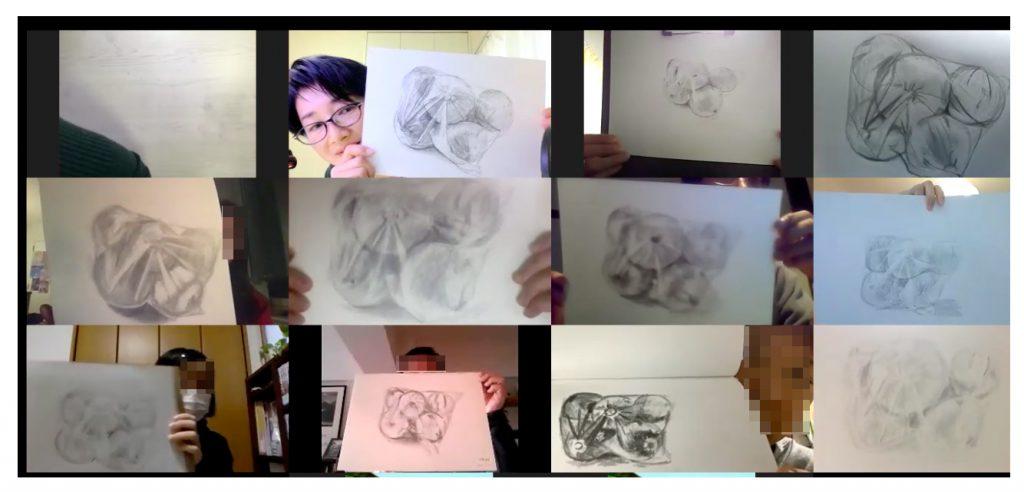 【ピリカアートスクール】延参加人数200名突破!第25回 松原美那子と一緒に描く!オンライングループデッサン会を開催いたしました★