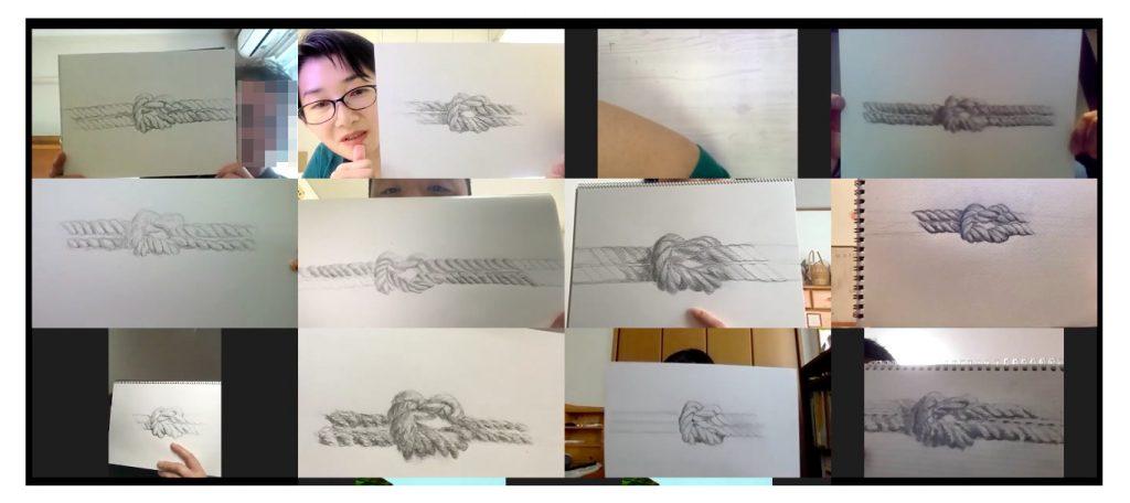 【ピリカアートスクール】2021年もスタート★松原美那子と一緒に描く!オンライングループデッサン会を開催いたしました★